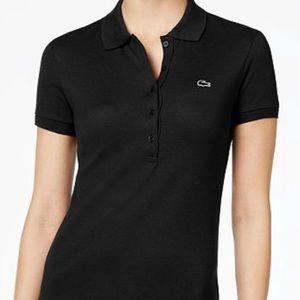 Lacoste women's 5 button slim-fit polo shirt